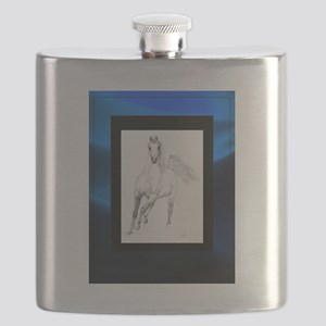 Freedom Trotting Arabian Blue Flask