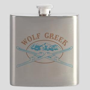 Wolf Creek Crossed-Skis Badge Flask