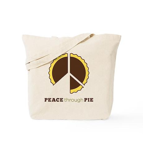 Peace Through Pie Tote Bag