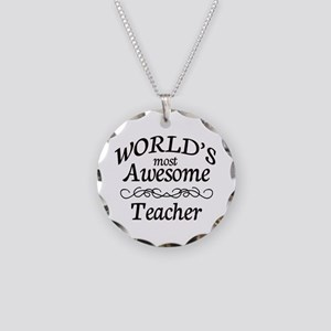 Awesome Necklace Circle Charm
