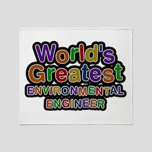 World's Greatest ENVIRONMENTAL ENGINEER Throw Blan