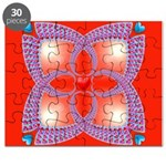 Red and Blue Celtic Valentines Heart Puzzle