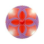 Red and Blue Celtic Valentines Heart 3.5