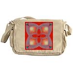 Red and Blue Celtic Valentines Heart Messenger Bag