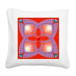 Red and Blue Celtic Valentines Heart Square Canvas