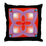 Red and Blue Celtic Valentines Heart Throw Pillow