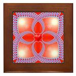 Red and Blue Celtic Valentines Heart Framed Tile