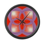 Red and Blue Celtic Valentines Heart Large Wall Cl