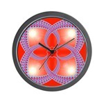 Red and Blue Celtic Valentines Heart Wall Clock