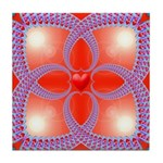 Red and Blue Celtic Valentines Heart Tile Coaster