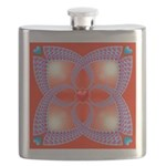 Red and Blue Celtic Valentines Heart Flask