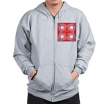 Red and Blue Celtic Valentines Heart Zip Hoodie