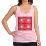 Red and Blue Celtic Valentines Heart Racerback Tan