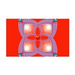 Red and Blue Celtic Valentines Heart 35x21 Wall De