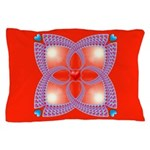 Red and Blue Celtic Valentines Heart Pillow Case