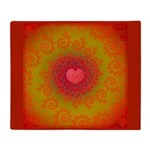 Red and Orange Valentines Heart Fractal Stadium B