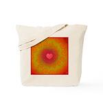 Red and Orange Valentines Heart Fractal Tote Bag