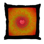 Red and Orange Valentines Heart Fractal Throw Pill