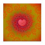 Red and Orange Valentines Heart Fractal Tile Coast