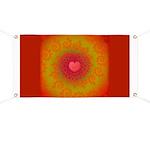 Red and Orange Valentines Heart Fractal Banner