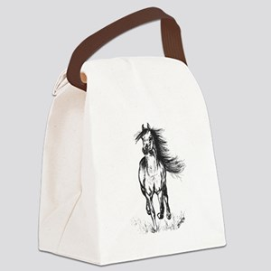 Runner Arabian Horse Canvas Lunch Bag