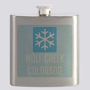 Wolf Creek Snowflake Flask