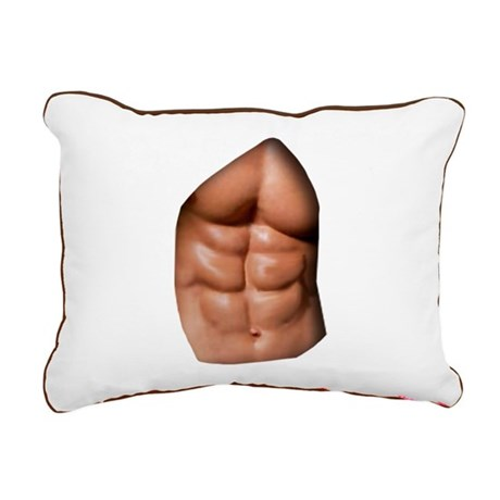 Ripped Abs Rectangular Canvas Pillow