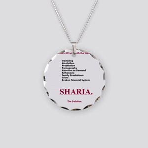 Sharia. The Solution Necklace Circle Charm