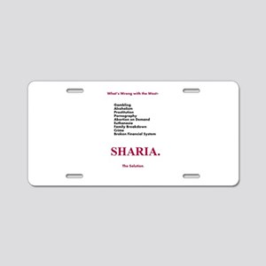 Sharia. The Solution Aluminum License Plate