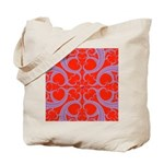Red and Blue Valentines Fractal Art Tote Bag