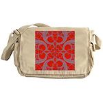 Red and Blue Valentines Fractal Art Messenger Bag