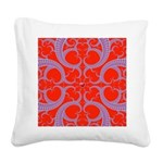 Red and Blue Valentines Fractal Art Square Canvas