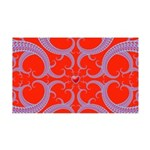 Red and Blue Valentines Fractal Art 35x21 Wall Dec