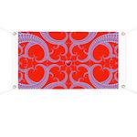Red and Blue Valentines Fractal Art Banner