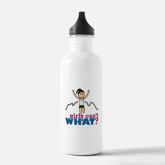 Girl Running in Green Water Bottle