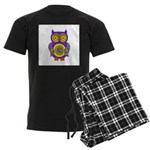 Purple Psychedelic Owl Men's Dark Pajamas