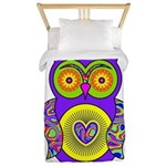Purple Psychedelic Owl Twin Duvet