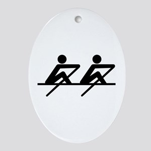 Rowing paddle team Ornament (Oval)