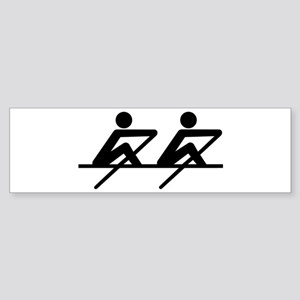 Rowing paddle team Sticker (Bumper)