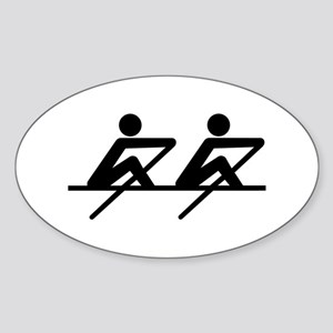 Rowing paddle team Sticker (Oval)