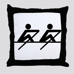 Rowing paddle team Throw Pillow