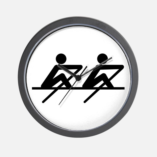 Rowing paddle team Wall Clock