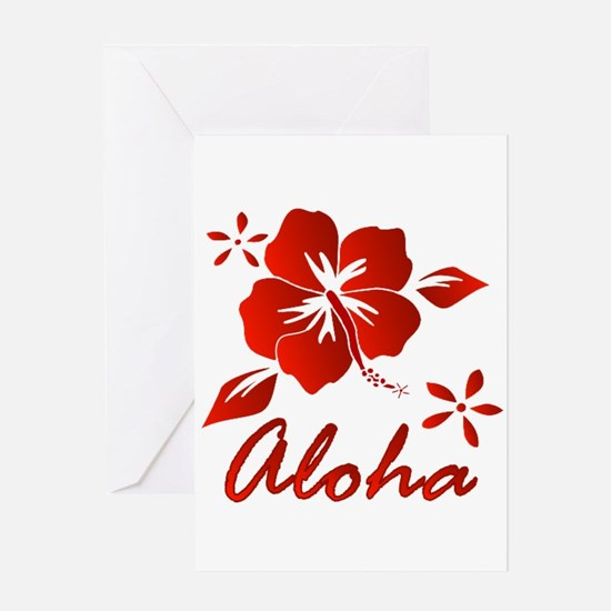 Aloha Greeting Card Blank inside