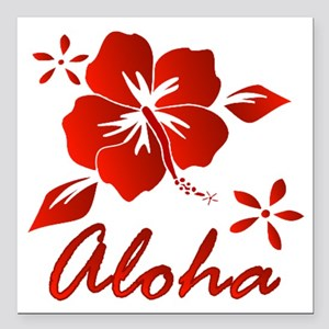 "Aloha Square Car Magnet 3"" x 3"""