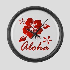 Aloha Large Wall Clock