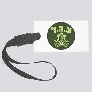 Tzahal Logo Large Luggage Tag