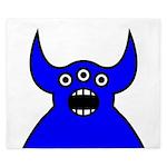 Kawaii Blue Alien Monster King Duvet