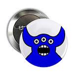 Kawaii Blue Alien Monster 2.25