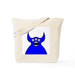 Kawaii Blue Alien Monster Tote Bag