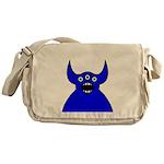 Kawaii Blue Alien Monster Messenger Bag